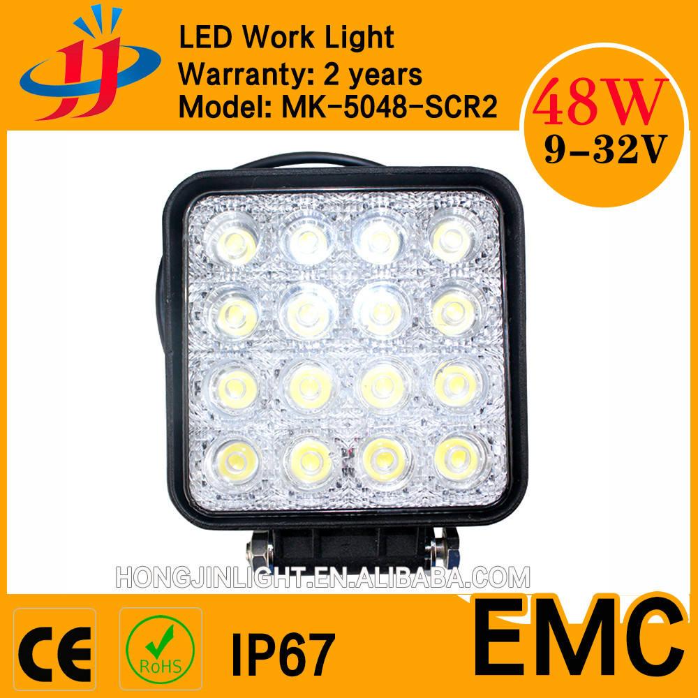 LED ワークライト 農用 工業用 作業灯 トラクター 船 ワークライト広角タイプ 48w led 作業 灯 12v