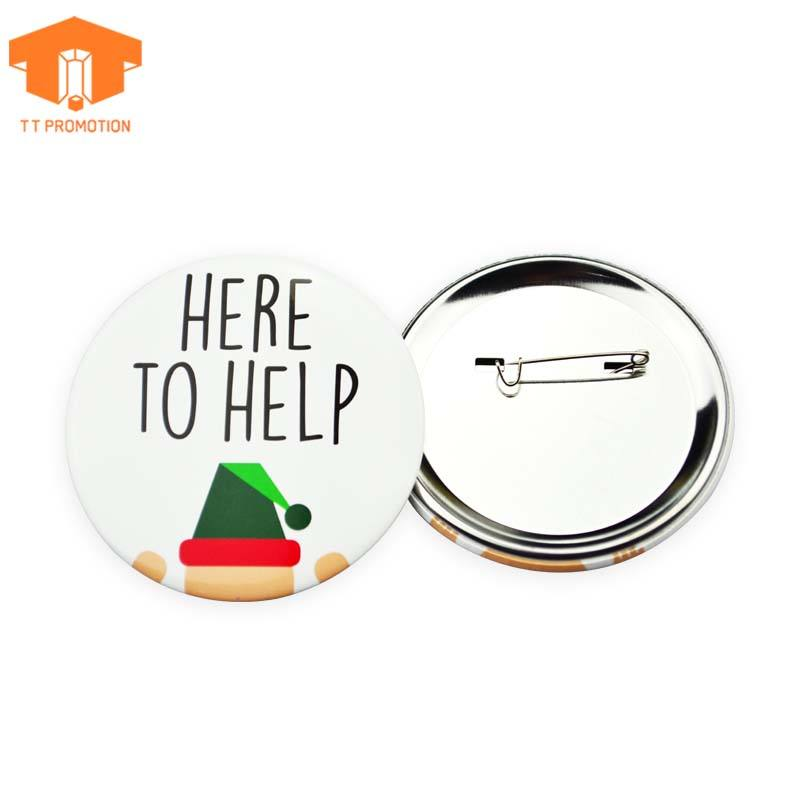 Factory Free Samples Custom Cheap Tin Metal Button Badge