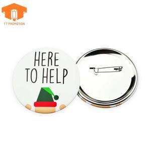 Factory Free Samples Custom Cheap Tin Metal Button Badge