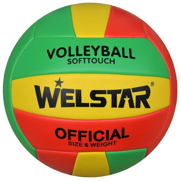 Chinese Manufacture Colorful Printing Machine Sewn Pvc Leather Volleyball Official Ball
