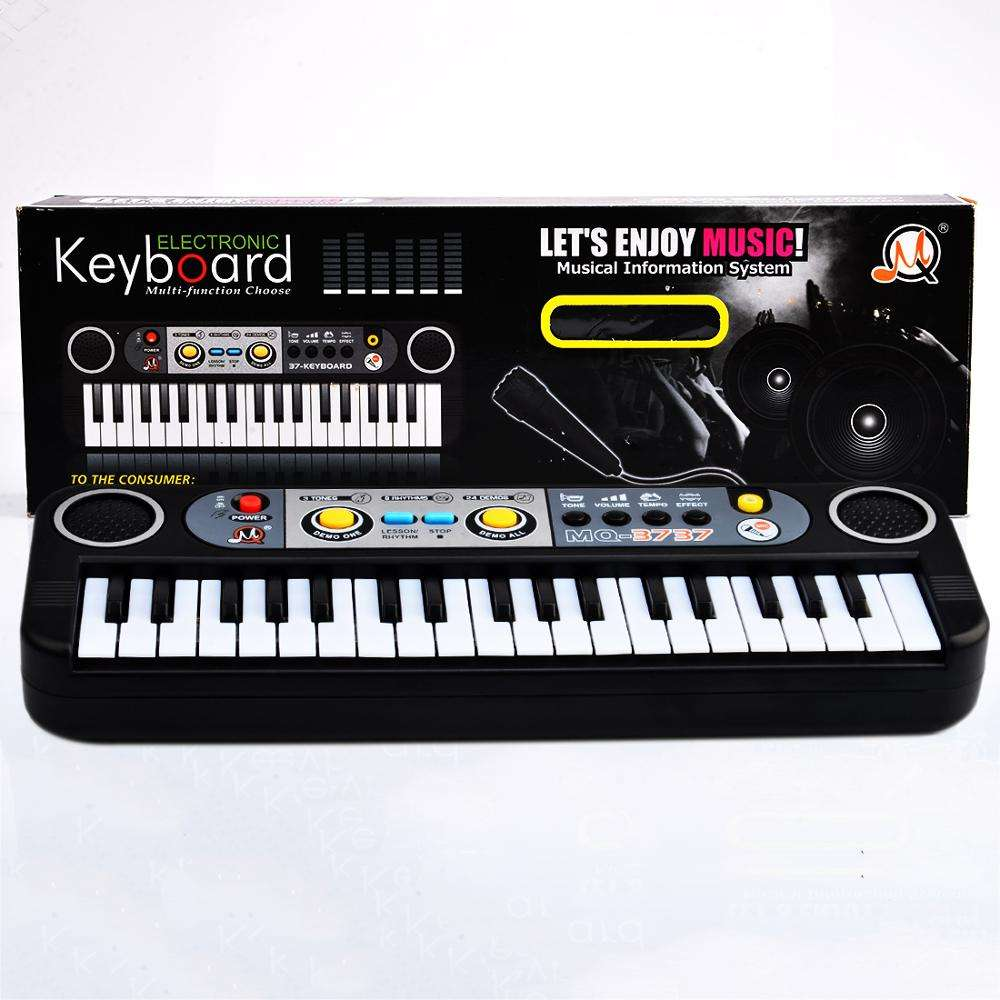 37 Key Small Electronic Keyboard Piano Musical Toy Mic Records for Children