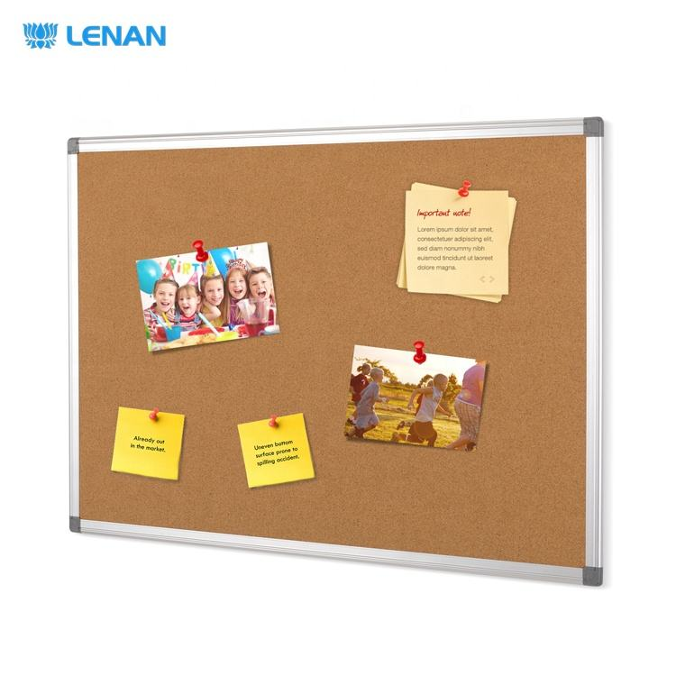 Wholesale custom home office wall mounted aluminum frame decoration push pin notice board cork bulletin board