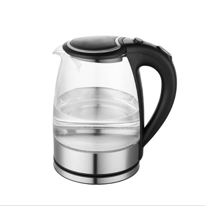 Led Illuminated Glass Kettle Stainless Steel Body 2400W Cordless Kettle Jug 1.7L