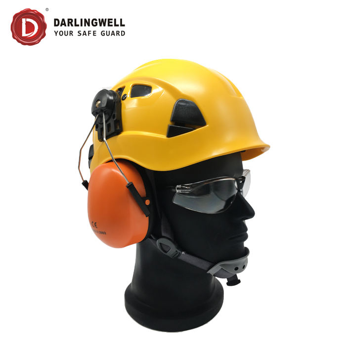 Wholesale en397 safety helmet ear muffs rescue safety helmet sports hard hat abs from CHINA