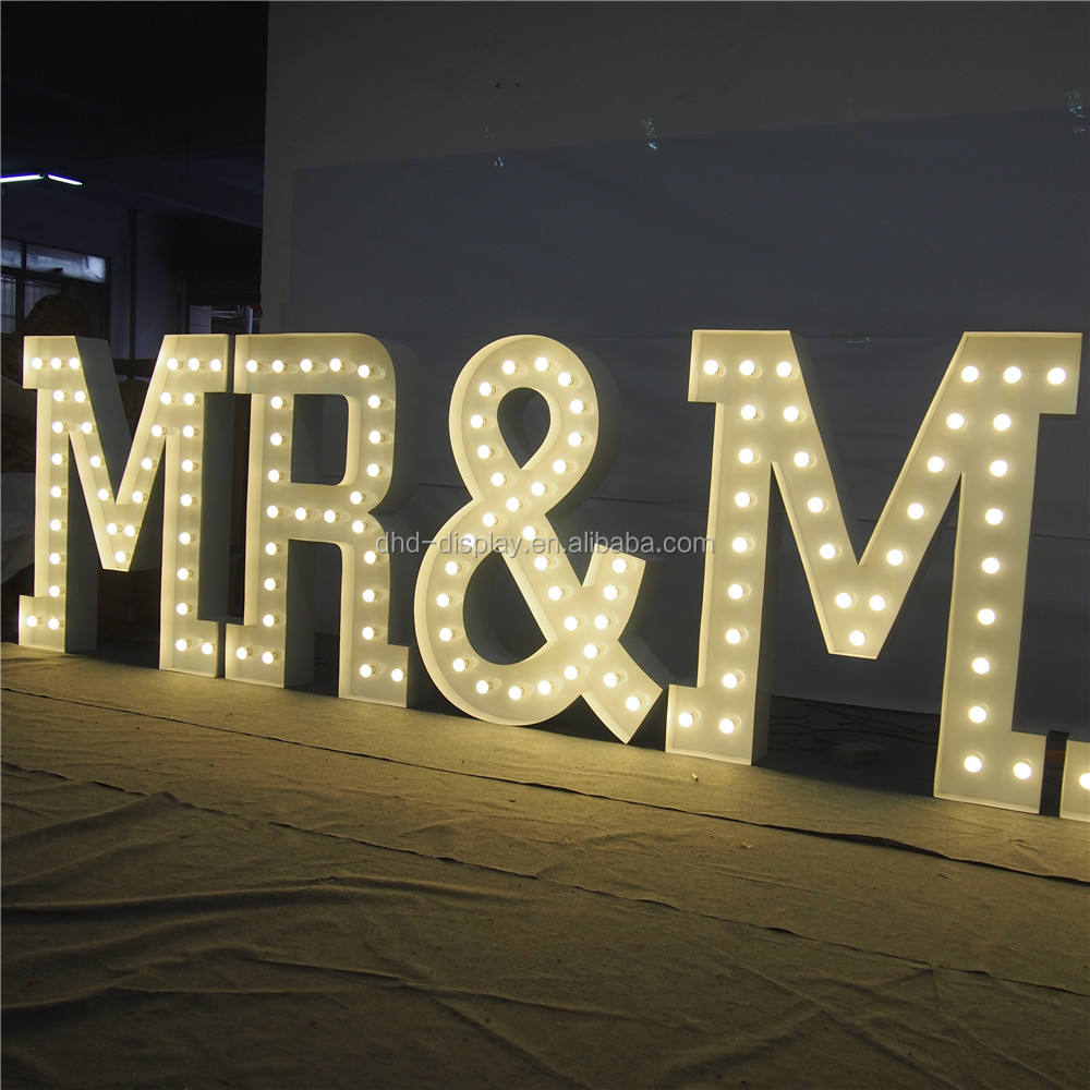 Big Decorative LOVE Channel Letter Sign invitation letters For Wedding