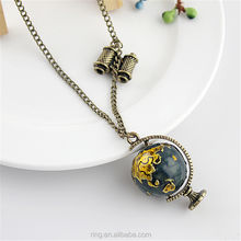 Hot Selling Vintage Necklace Jewelry Retro Long Chain with Telescope Colorful Enamel Globe Necklaces & Pendants Women Jewelry