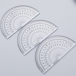 Popular wholesale cheap quality plastic round protractor sca