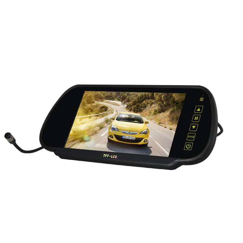7 inch Car back seat lcd monitor with 2AV car rearview display