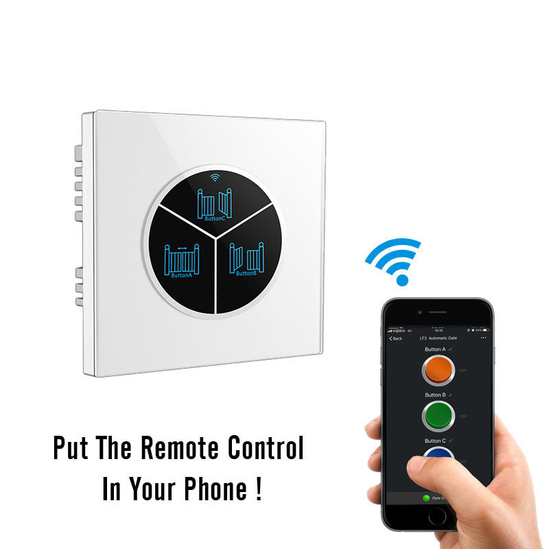 automatic sliding gate wifi remote switch for garage door opener with phone app control
