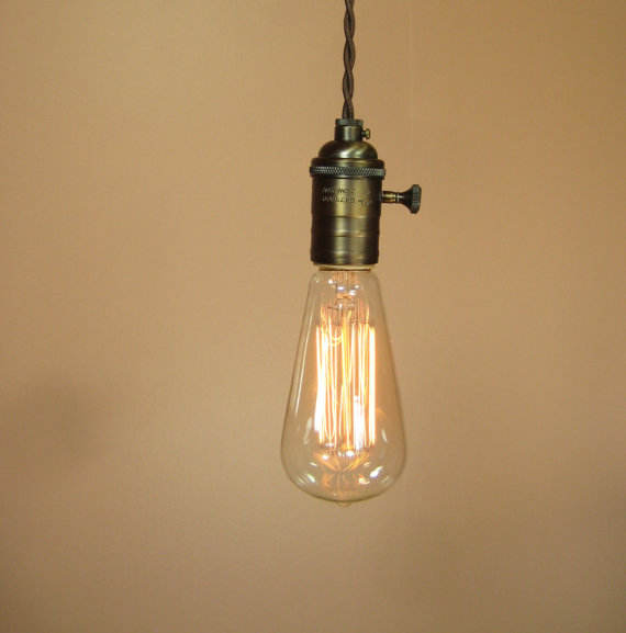 Clear Glass Vintage Edison Light Bulbs ST58 Antique Vintage Thomas Edison Style Pendant Lighting Bulb