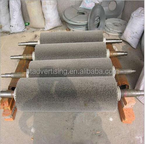 Large supply of various industrial brushes abrasive wire brush roller polishing brush roller