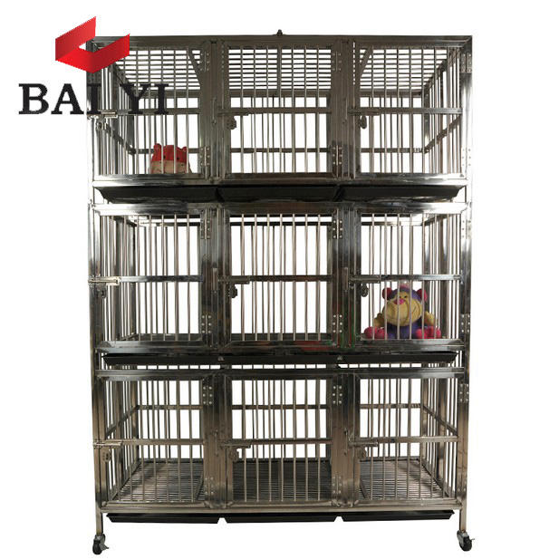 Foldable Stainless Steel Bar Dog Cage and Dog Crate For Sale