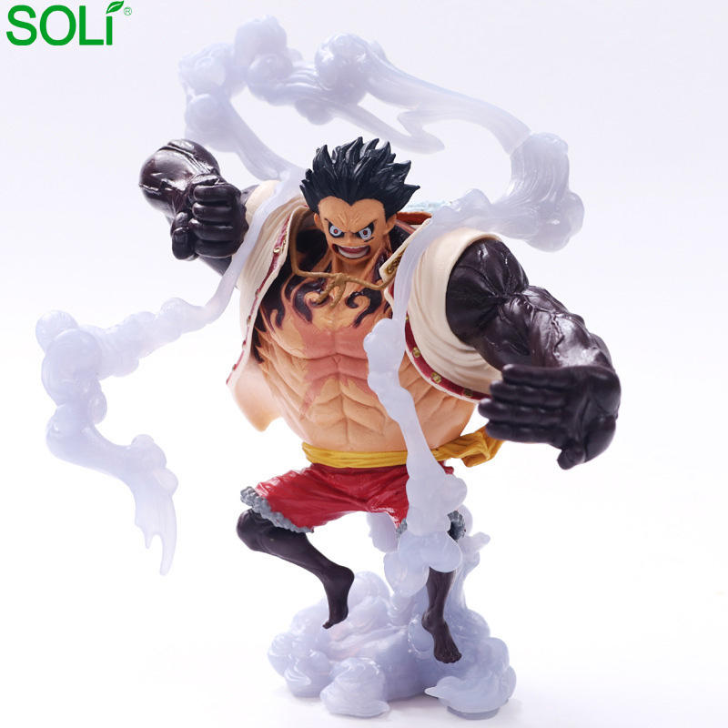 Rubber man 4 figuras one piece action one piece luffy figure