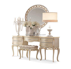 Royal Bedroom Dressing Table with Mirror, Luxury Dresser