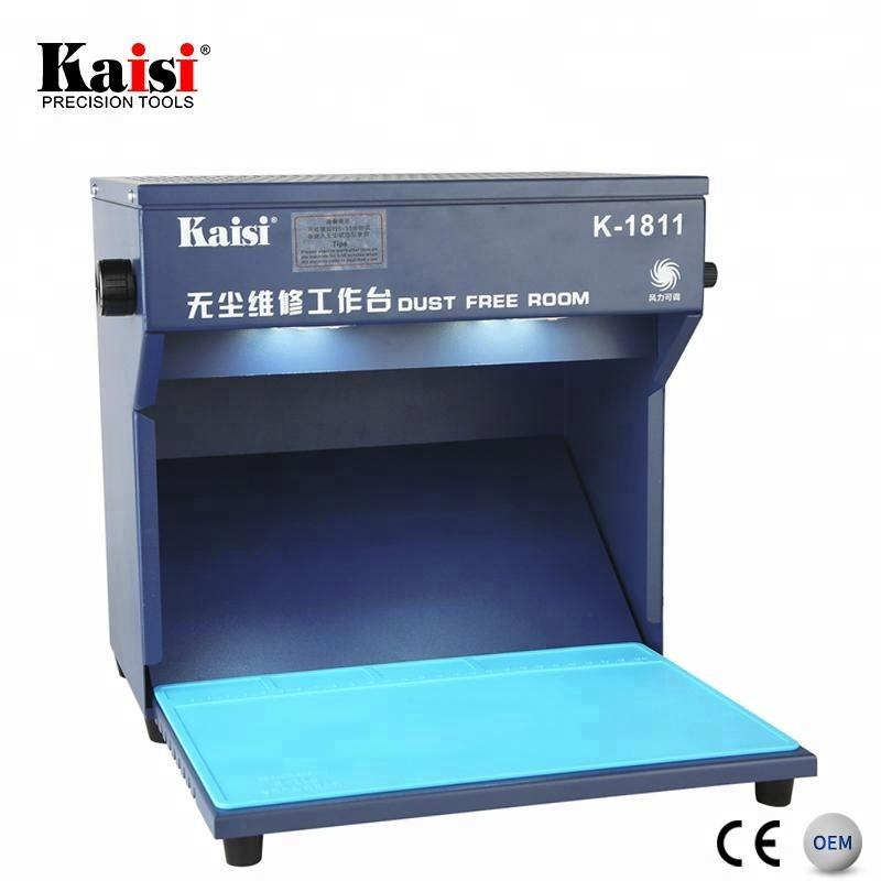 Kaisi Mini Size Portable Clean Dust Free Room With Filter For LCD Repair