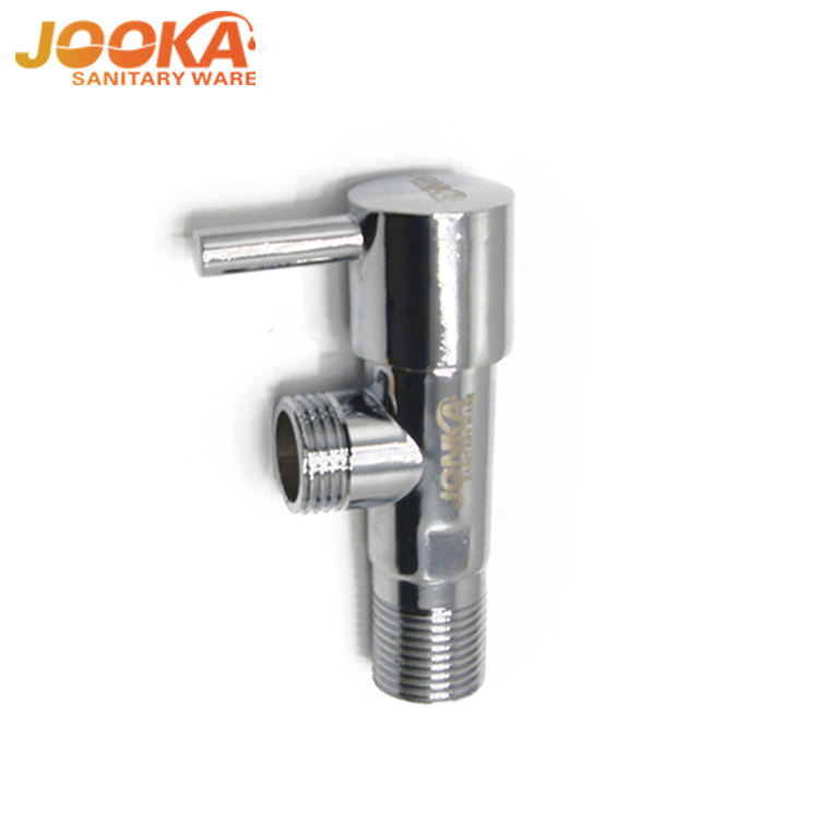 Hight quality chrome plate new design bathroom toilet 90 degree water angle cock valve