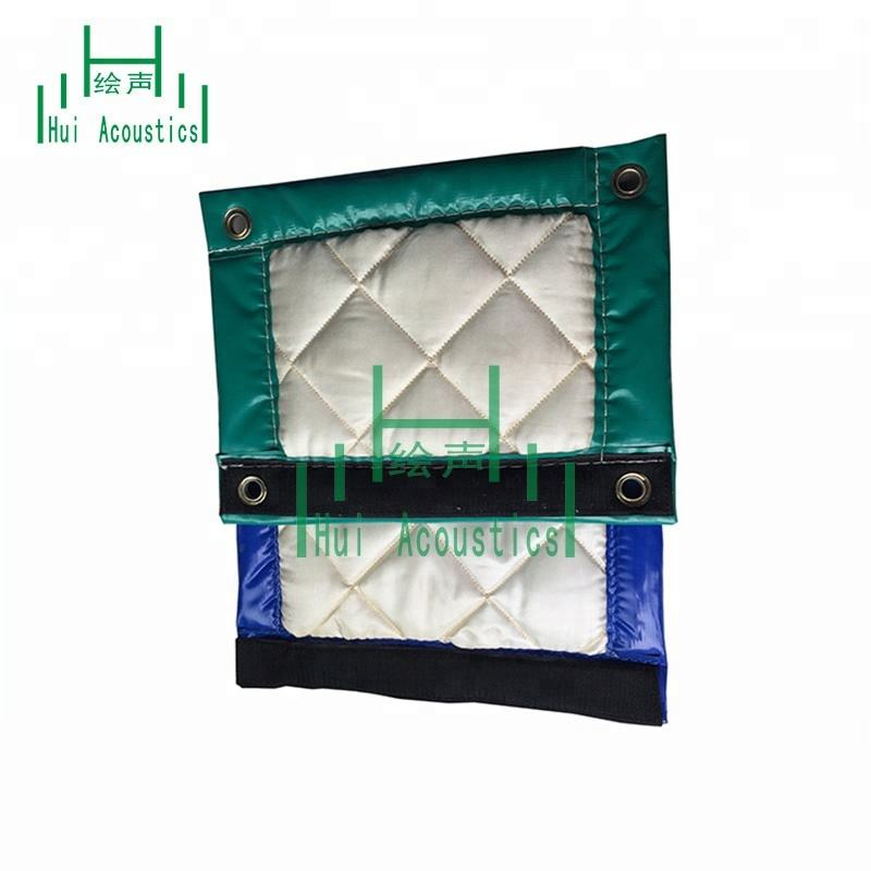 Vinyl Acoustic Barrier Hanging on Construction Fencing for Sale Acoustic Sound Barrier