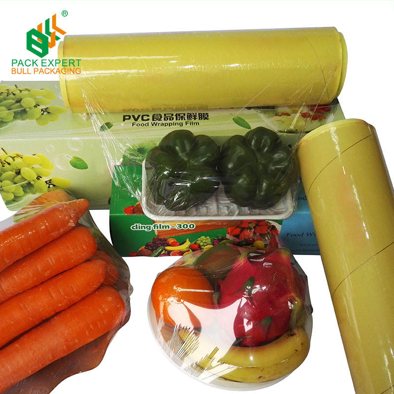 Eco plastic food grade stretch packaging film pe cling film wrap roll