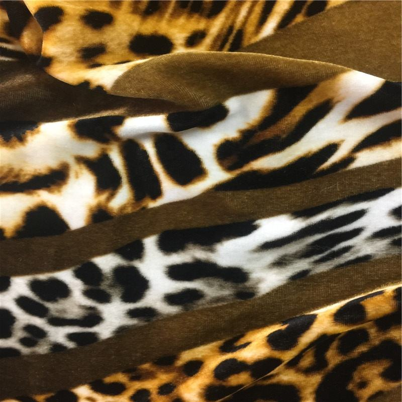 Silk20% Viscos80% blended printing Velvet fabric 180gsm