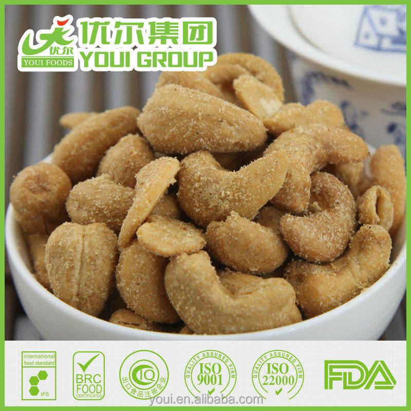 BBQ flavor roasted cashews, Cashew nuts - Suzhou Youi Group