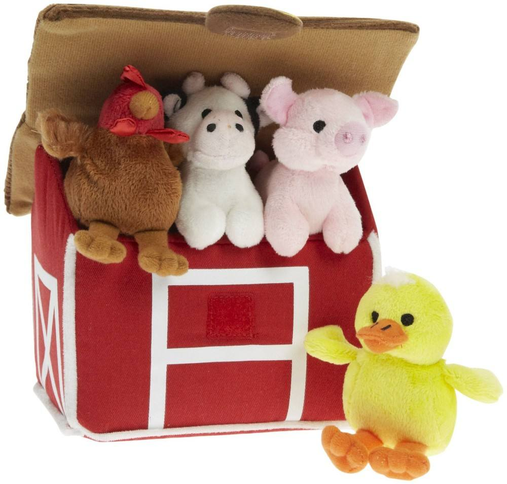 Farm animals house set , stuffed duck pig chicken cow with sound