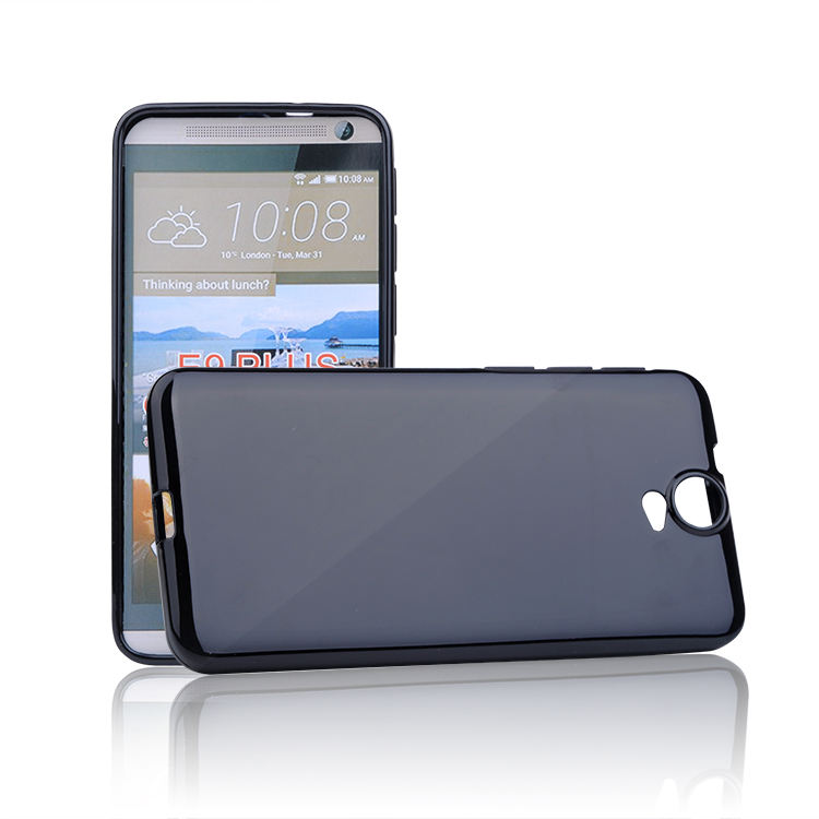 2015 para htc e9 plus gel tpu shell cubierta para htc e9 plus / htc one e9 +