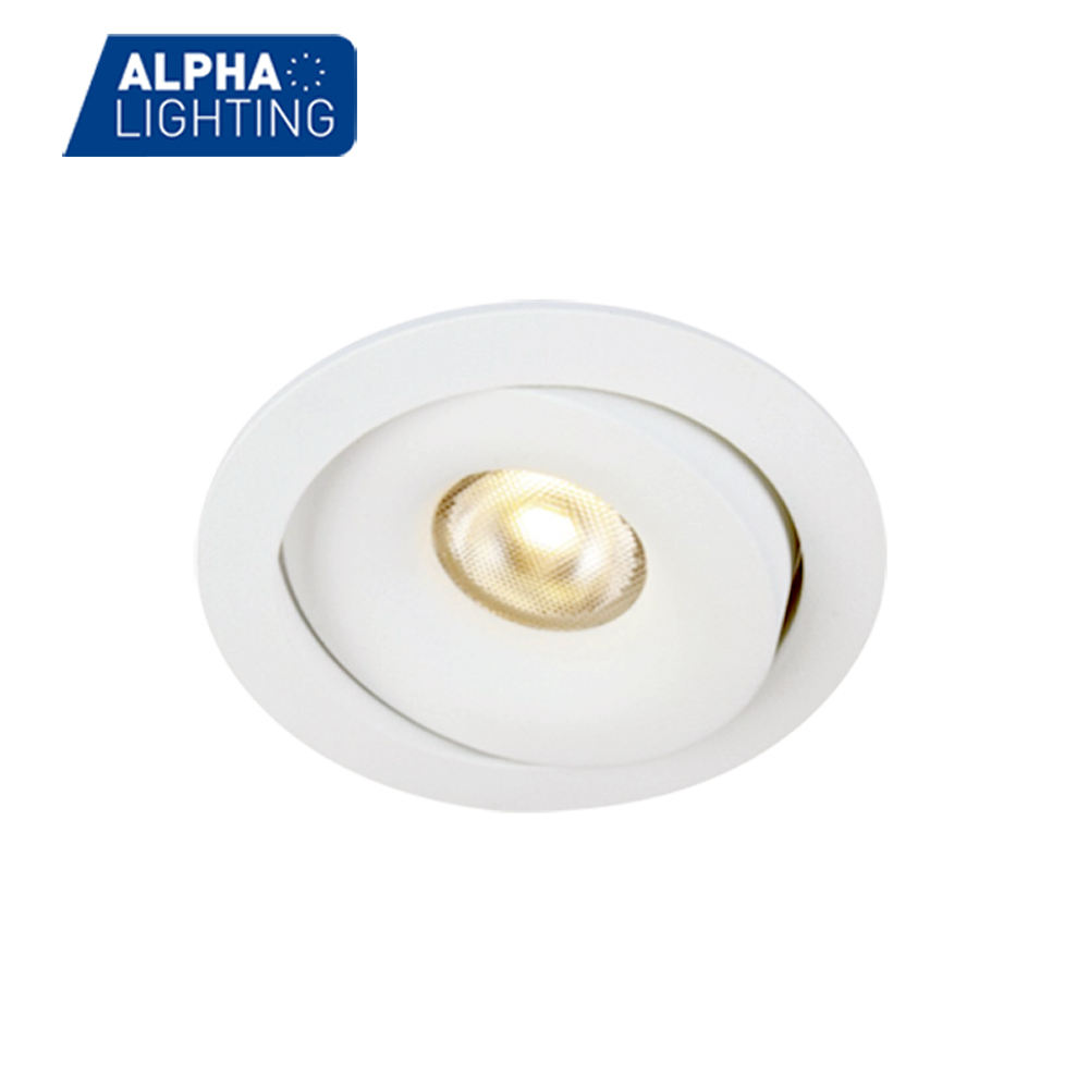 7W high quality IP54 aluminum high CRI led downlight globes