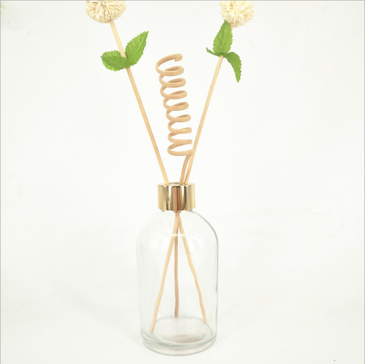 Empty Clear Round Reed Cylinder Diffuser Bottle 100 ML 50 ML Essential Oils Bottle with stopper