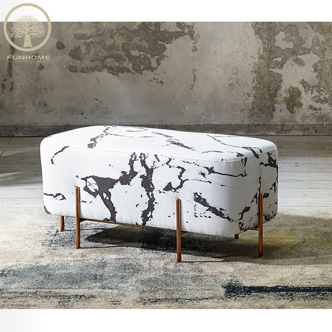 fabric stool pouf ottoman chair for cafe shop