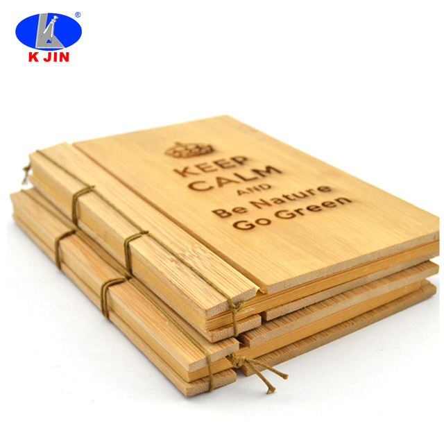 Natural bamboo carving pattern notebook office supplies graduation gift