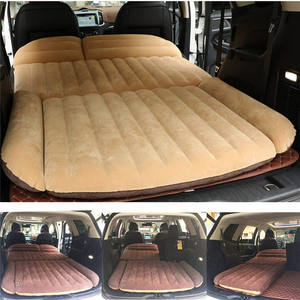 Khaki Wholesale Comfortable Inflatable Car Air Mattress Car Sleeping Mattress