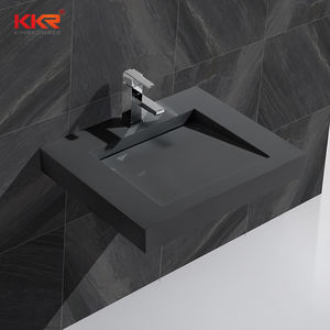Commercial Custom Trough Cabinet Sink Wall Hung Bathroom Polished Stone Basin Trough Sink