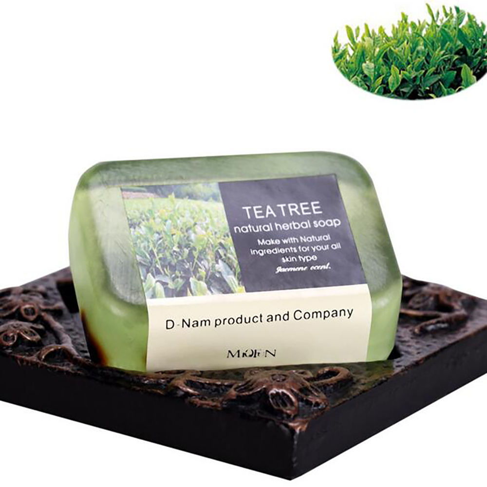 China Wholesale Handmade 100g Tea Tree Essential Oil Soap For Bath