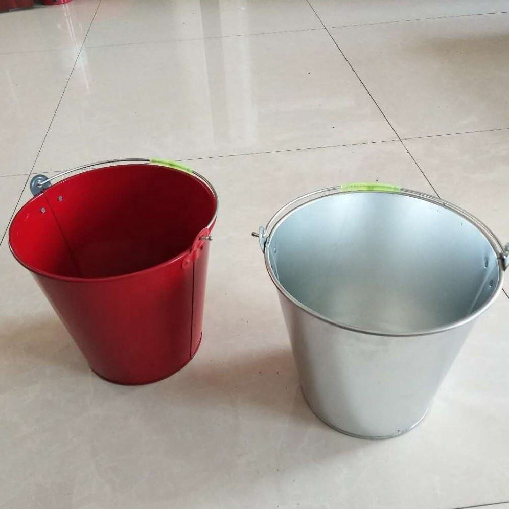 small metal bucket pails container 8-15l galvanized