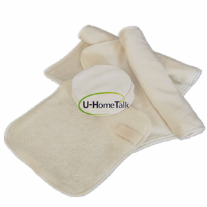 U-HomeTalk UT-YJ067 Custom LOGO Reusable Make up Remover Pads Wipes Bamboo Cotton Terry Cloth for Face Cleaning Towel Set