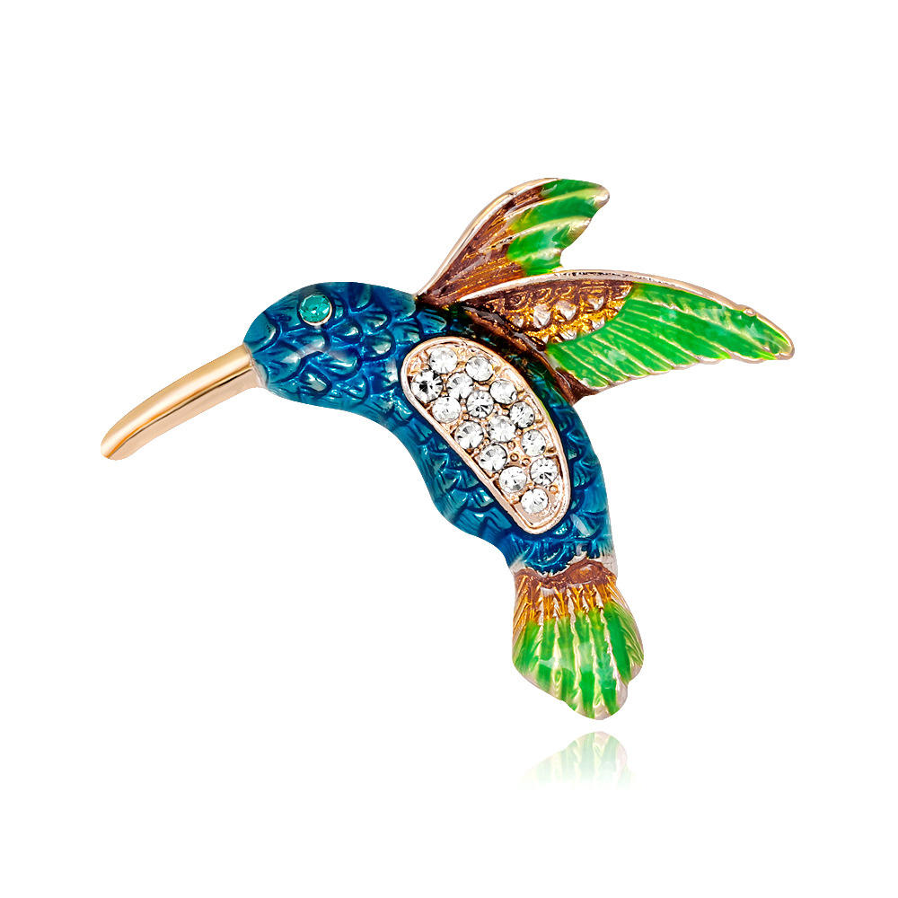 석 enamel hummingbirds 브로치 beautiful 새 브로치