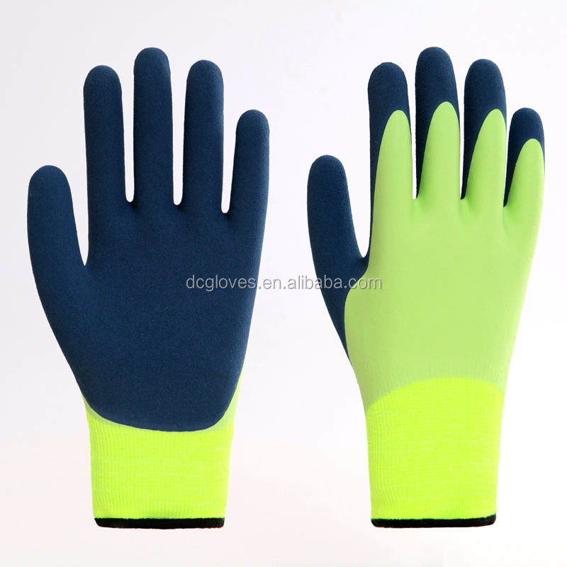 13 gauge nylon liner double coated waterproof working gloves in China