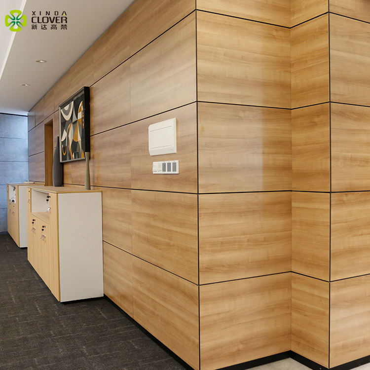 Latest Design Modern wooden wall partition design 16mm Melamine Indoor office wall partition