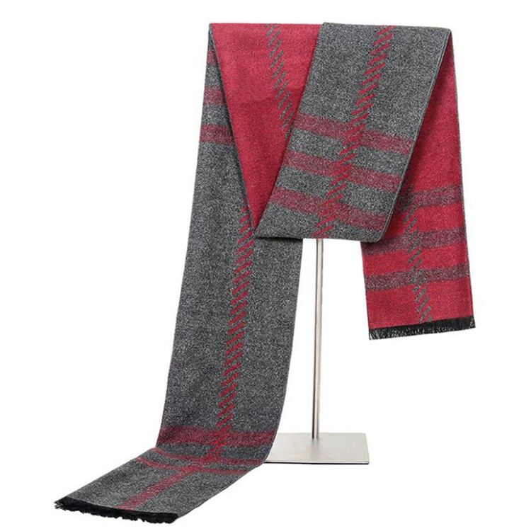 Wholesale personalized soft and breathable men's custom made scarf for winter