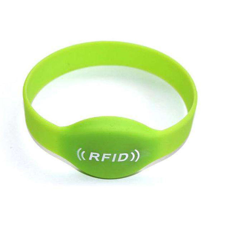 Chip wedding mifare biodegradable silicone rfid flashing wristband lock
