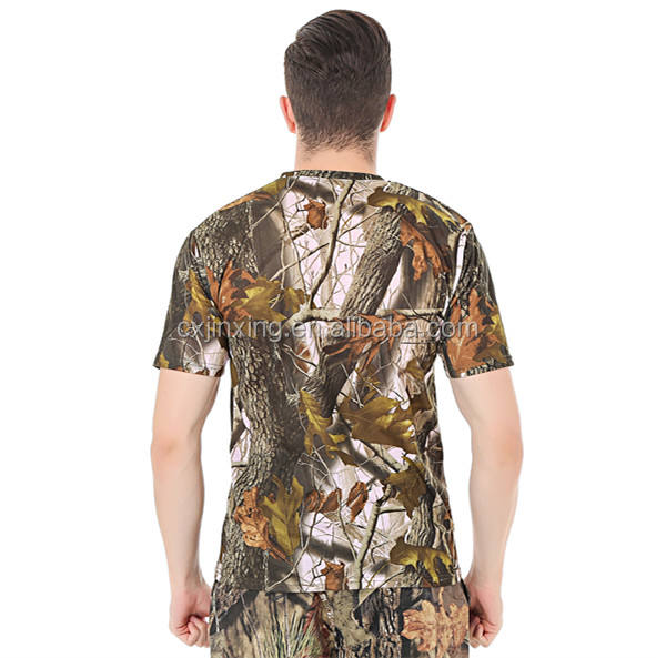 [ Camouflage Shirt ] Camouflage T Shirt Sport Cloth Spandex Military Outdoor Bionic Hunting Camouflage Clothing