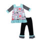 Children Fall and winter clothing Lovely girls bat sleeve sweater long pants set