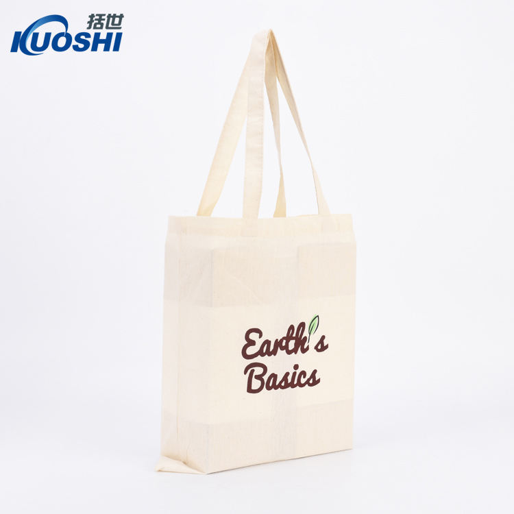 Fashion High Quality Custom Logo Reusable Cotton Canvas Promotional Shopping Bag