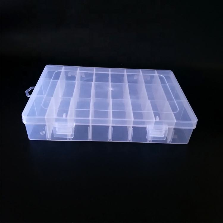 Pack of 5 Clear Plastic 7 Compartment Heptagon Bead Storage Organiser