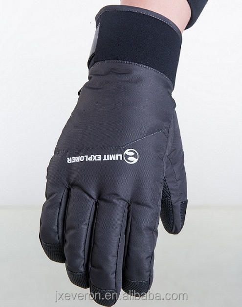 Wholesale Mens Waterproof Outdoor Winter Soft warm PU Ski Gloves