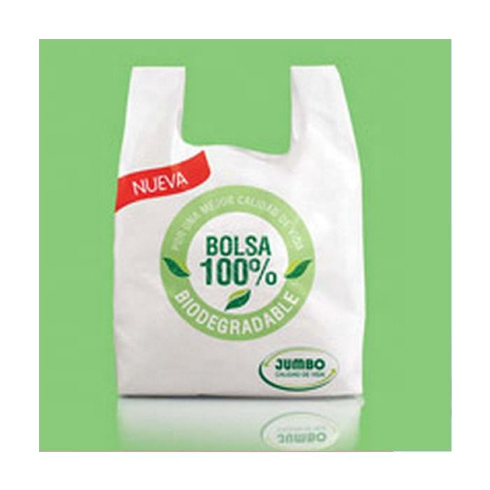 100% biodegradable cassava starch plastic grocery carry packaging manufacturer compostable shopping bags