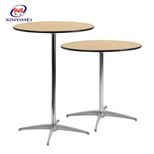 Cheap Price Modern Portable High Top Round Laminate Cocktail Table