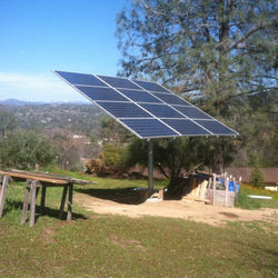 Competitive solar panel pole mounting system