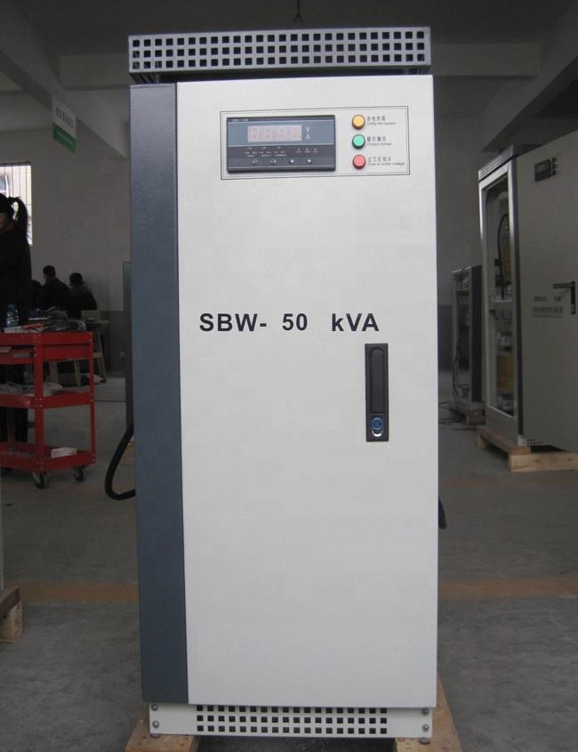 Tiga Fase Servo SBW Automatic Voltage Stabilizer/<span class=keywords><strong>Regulator</strong></span> 50kva