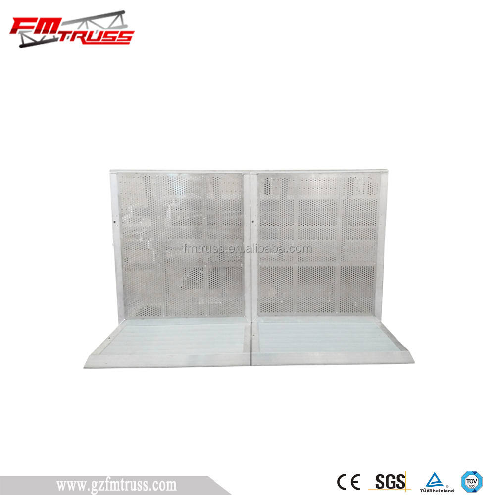 Concert Fencing Barrier System With Aluminum Alloy Used